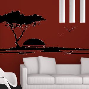 Wandtattoo Baum Landschaft