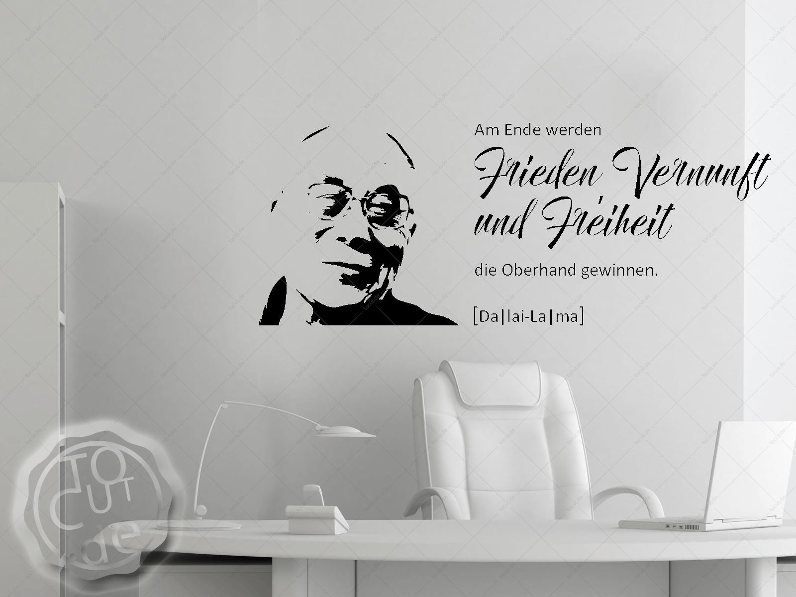 Wandtattoo Frieden Vernunft Freiheit (Daila Lama)