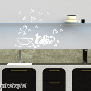 Wandtattoo coffee Kaffee