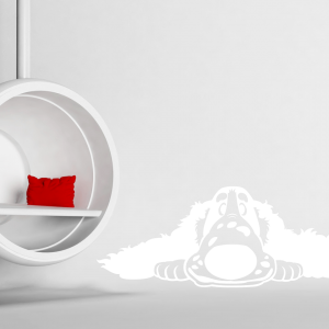 Wandtattoo Cartoon Spaniel Hund