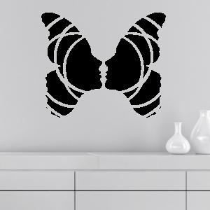 Wandtattoo Schmetterling Frau