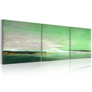 Gemaltes Bild - Blassgrüne Küste