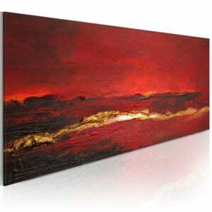 Gemaltes Bild - Roter Ozean