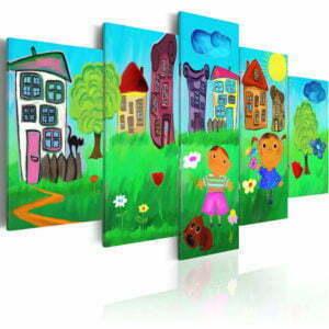 Wandbild - Unbeschwerte Kindheit