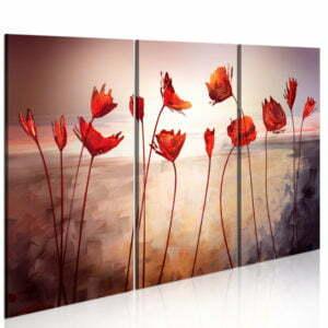 Wandbild - Bright red poppies