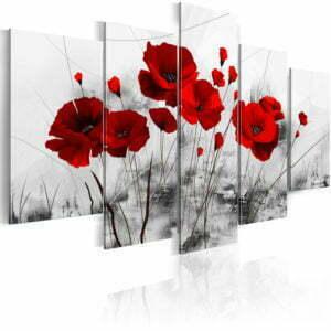 Wandbild - Mohnblumen - rot  Wunder