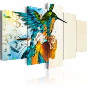 Wandbild - Bird's music - 5 pieces