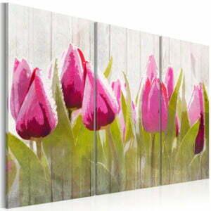 Wandbild - Spring bouquet of tulips