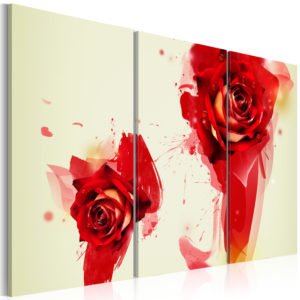 Wandbild - Neue Sichtweise einer Rose