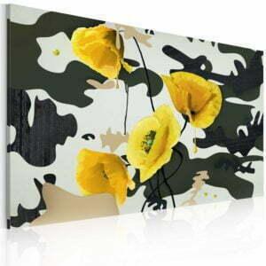 Wandbild - Gemalt mit Mohnblumen