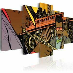 Wandbild - Jazz im Comic