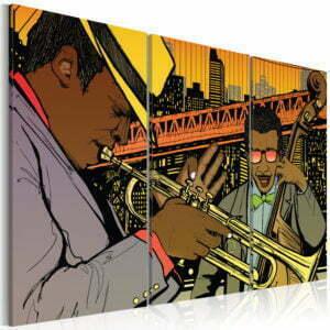 Wandbild - Jazz-Musiker