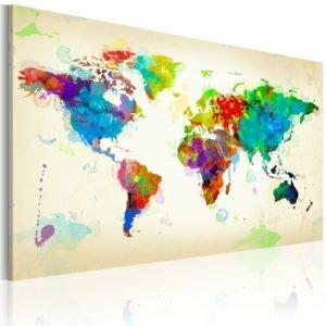Wandbild - All colors of the World