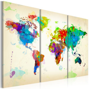Wandbild - All colors of the World - triptych