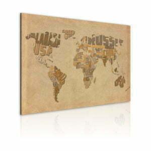 Wandbild - Alte Weltkarte