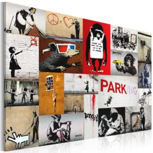 Wandbild - Banksy - Collage