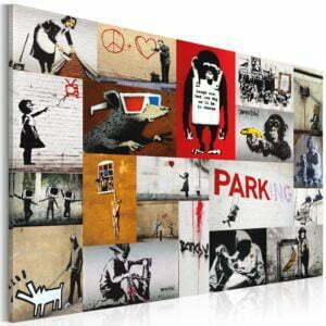 Wandbild - Banksy - Collage