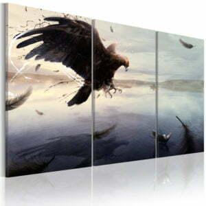 Wandbild - Adler am See