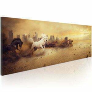 Wandbild - City of stallions