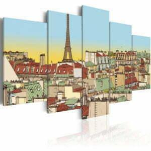 Wandbild - Idyllisches Bild von Paris