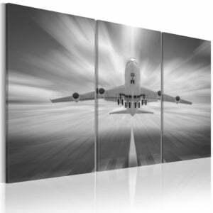 Wandbild - In Richtung der Wolken - Triptychon