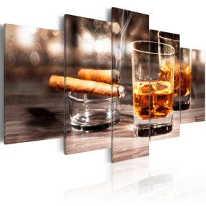 Wandbild - Cigar and whiskey