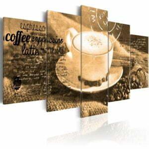 Wandbild - Coffe, Espresso, Cappuccino, Latte machiato ... - sepia