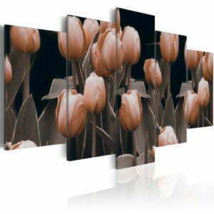 Wandbild - Tulpen in Sepia