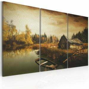Wandbild - Idyllic village - triptych
