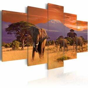 Wandbild - Africa: Elephants