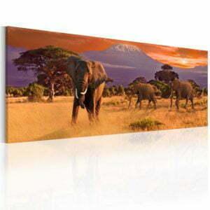Wandbild - March of african elephants