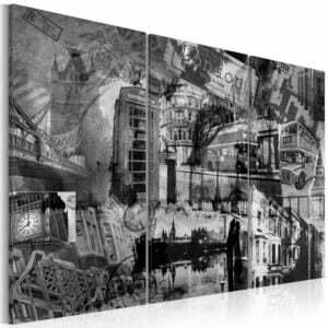 Wandbild - Das Wesen von London - Triptychon