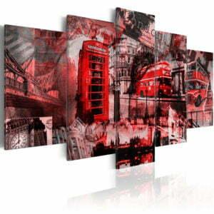 Wandbild - Londoner Collage - 5 Teile