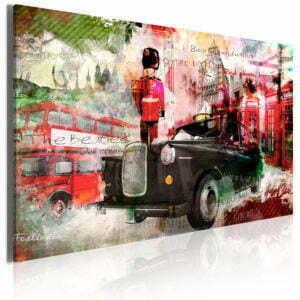 Wandbild - Erinnerungen aus London