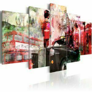 Wandbild - Erinnerungen aus London - 5 Teile