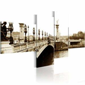 Wandbild - Brücke Alexander III. in Paris