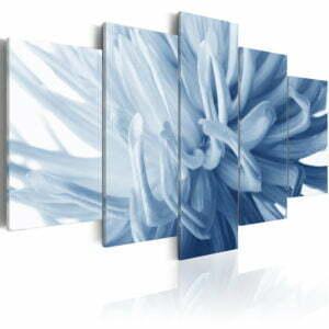 Wandbild - Blaue Dahlie