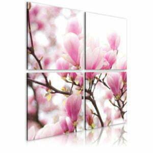 Wandbild - Blühender Magnolienbaum
