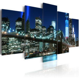 Wandbild - Blaues New York