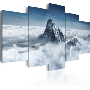 Wandbild - Bergspitze über den Wolken