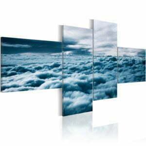 Wandbild - Mit dem Kopf in den Wolken