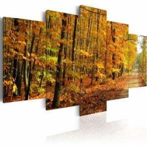 Wandbild - Allee inmitten bunter Bäume
