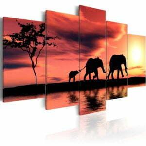 Wandbild - Kleine Elefanten-Familie