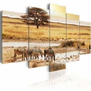 Wandbild - Zebras in der Savanne