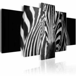 Wandbild - Zebra look