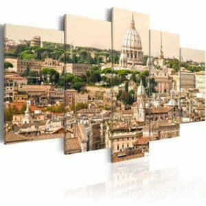 Wandbild - Die Dächer der Ewigen Stadt