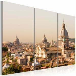 Wandbild - Über den Dächern der Ewigen Stadt