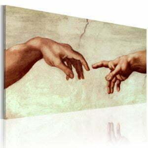 Gemaltes Bild - Die Erschaffung Adams: Ausschnitt der Malerei