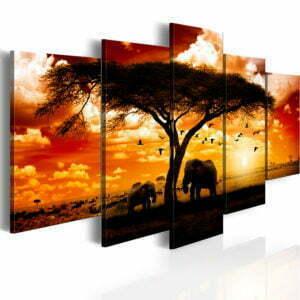Wandbild - Vögel über Savanne