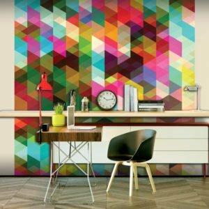 Fototapete - Colourful Geometry